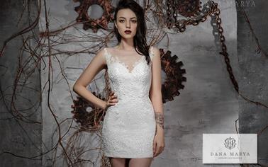 Короткие свадебные платья от производителя: стильные дизайнерские модели