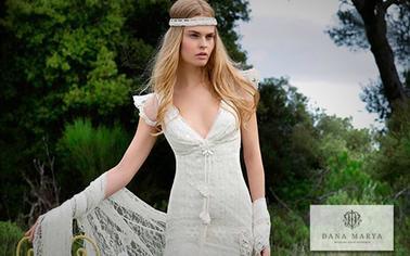Свадебное платье в стиле Бохо в городе и на природе